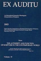 Ex Auditu - Volume 19