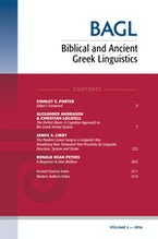 Biblical and Ancient Greek Linguistics, Volume 5