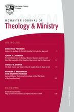 McMaster Journal of Theology and Ministry: Volume 17, 2015–2016