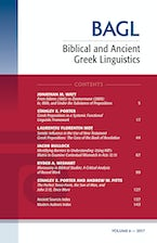Biblical and Ancient Greek Linguistics, Volume 6