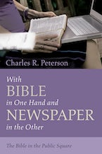 With Bible in One Hand and Newspaper in the Other