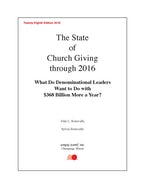 The State of Church Giving through 2016