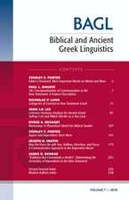 Biblical and Ancient Greek Linguistics, Volume 7