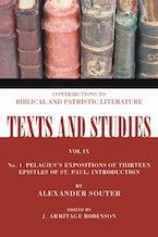 Pelagius's Expositions of Thirteen Epistles of St. Paul
