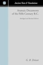 Aramaic Documents of the Fifth Century B.C.
