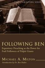 Following Ben (Stapled Booklet)