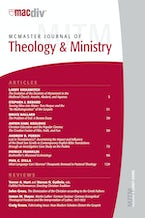 McMaster Journal of Theology and Ministry: Volume 9