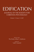 Edification-Journal of the Society of Christian Psychology