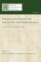 Translating Scripture for Sound and Performance