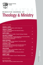 McMaster Journal of Theology and Ministry: Volume 14, 2012–2013
