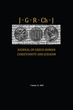 Journal of Greco-Roman Christianity and Judaism, Volume 16