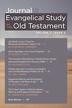 Journal for the Evangelical Study of the Old Testament, 7.2