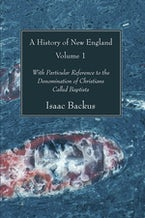 A History of New England, Volume 1
