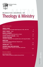 McMaster Journal of Theology and Ministry: Volume 20, 2018–2019