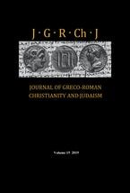 Journal of Greco-Roman Christianity and Judaism, Volume 15