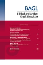 Biblical and Ancient Greek Linguistics, Volume 9